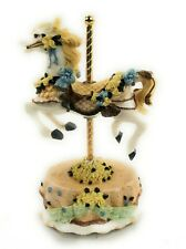Melodies County Fair Carousel Horse Heritage House Used Music Box Love Me Tender