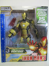 UPGRADED Marvel Sonic Blasting Iron Man 3 Action Figure Glow in the Dark Armor