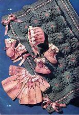 100+ Vintage Shawls & Blankets BABY PATTERNS on cd ~ Crochet & Knitting ~