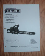 CRAFTSMAN 316.350850 CHAIN SAW OWNERS MANUAL WITH ILLUSTRATED PARTS LIST