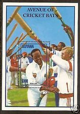 GUYANA 1995 BRIAN LARA CRICKET World Record Souvenir Sheet MNH