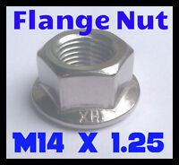 KYB AGX Struts M14 x 1.25 Metric Fine Serrated Flange Nut (Pack of 4)