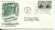 1975 RIGHT OF THE PEOPLE TO PEACEABLY TO ASSEMBLE ART CRAFT  ADDRESSED FDC
