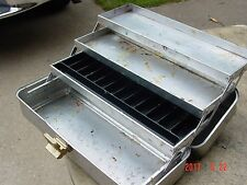 Vintage UMCO 175A Aluminum 3-Tray Tackle Box used by a Portrait Painter