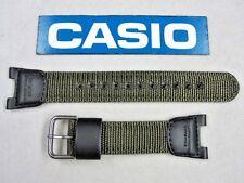 Genuine Casio Twin Sensor SGW-100B watch band strap green nylon black leather