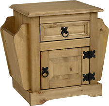 Seconique CORONA Distressed Mexican Pine 1 Drawer Magazine Table