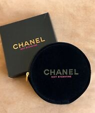 *New CHANEL BEAUTE Black Nuit Byzantine Round Makeup Cosmetic Bag New in Box