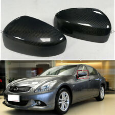 Real Carbon Fiber Side Mirror Cover Add On For INFINITI G25 G37 Q40 Q60 09-15