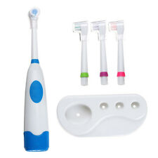 Hot Waterproof Electric Toothbrush Oral Care 4 Brush Heads+4 Shield+1 Holder Set