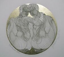 "Guillaume Azoulay ""Gemini"" LTD Gold Leaf Etching -Zodiac Edition #34/70"