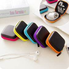 Headphone Earphone Headset USB SD Card Carry Case Zipper Storage Bags Box Pouch
