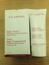 Clarins Tonic Body Treatment Oil 100ml 100 Pure Plant Extracts Firming Toning