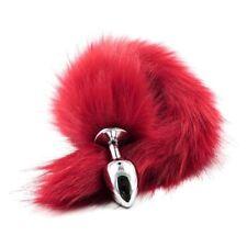 Anal Plug Queue de Renard Rouge Fox Tail Large Butt Femme Homme Jeu Role Sextoys