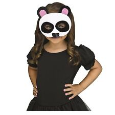 Furry Felt Panda Bear Animal Halloween Costume Half Mask Child Kids Family