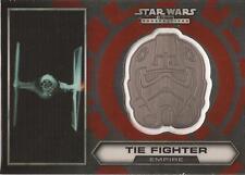 "Star Wars Chrome Perspectives #22 of 30 Silver Helmet Medallion ""Tie Fighter"""