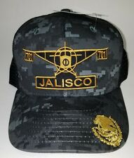 EL AVION DEL CHAPO JALISCO  MEXICO  701 HAT 2 LOGOS DIGITAL HAT GRAY BLACK