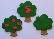 6 edible FARM FRUIT TREE cake topper decoration CUPCAKE wedding forest WOODLAND
