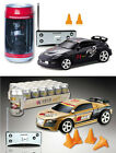 """(2) 3"""" Coke Can Mini RC Car Remote Control Rechargeable Christmas Toy Black Gold"""