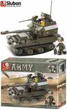 Sluban Battle Tank Building Bricks Model Blocks Toy Set Army Toy Soldier B0287