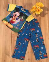 Mickey Mouse Clubhouse 2 pc Pajamas Sleep Disney Shirt Top 4T Pants 4T B26