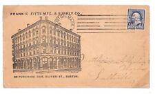 BE163 1894 USA Boston Cover Machine Cancel