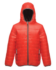 Regatta Kids Boys Girls Water Repellent Padded Jacket Coat With Hood Ages 3-12 Red 9-10 Years