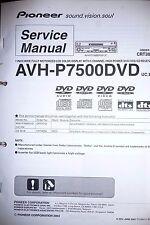 Manual de servicio para Pioneer avh-p7500dvd, original