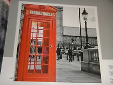 "LONDON RED PHONE BOOTH~ENGLAND~Photo Real Throw Silky Fleece Blanket 50"" x 60"""