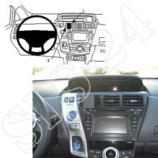 BRODIT ProClip 854713 Toyota Prius+ Plus ab2012 PDA GPS Halter Halterung Konsole