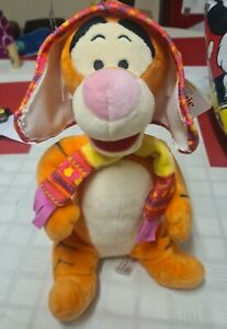 """Winnie The Pooh Tigger Soft Toy 12"""" With Tags Winter Tigger Soft Toy Teddy"""