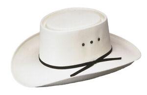 New! Western Straw Hat - Gambler Straw Hat *ELASTIC