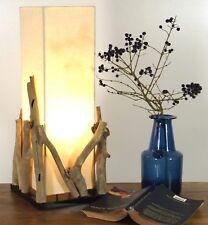 Lampe Tischlampe aus Holz Holzlampe Tischleuchte Treibholz 20x20cm und 50cm hoch