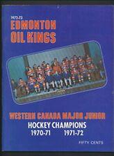 Lot of 4 1970's Edmonton Oil Kings & Oldtimers Hockey Programs  Rocket Richard,