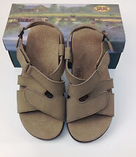 $153.00 SAS SAN ANTONIO SHOEMAKERS COMFORT SHOES SANDALS HUGGY TAUPE SIZE 6.5 M