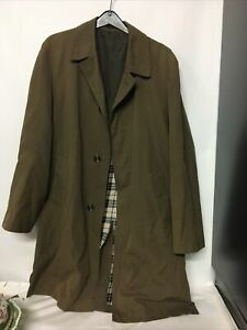 Dunn and Co Overcoat Polyester Cotton Medium Green L