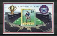 27873) Samoa I Sisifo 1991 MNH New W.Cup Rugby S/S