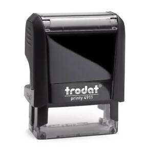 SELF INKING RUBBER STAMP TRODAT PRINTY 4911 WITH YOUR CUSTOM ENGRAVING DETAILS!