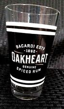 Bacardi Oakheart Genuine Spiced Rum Tall Drinking Glass 16oz