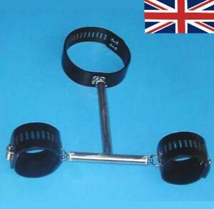 Neck Collar Wrist Restraints, Bondage, lockable, uk based