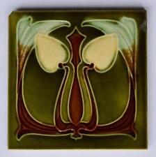 Antique Art Nouveau Tile by Corn Bros, c1905