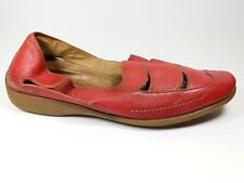 Rohde red leather flat shoes uk 6.5