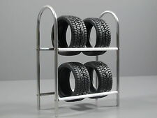 Custom Aluminum Tire Wheel Rim Rack simulation for Scale 1/10 Tamiya Remote Car