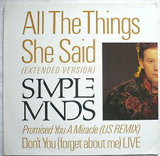 "SIMPLE MINDS - All the things she said (Extended version) - 12""-Maxi"