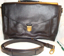 COACH Black Crosby Box Grain Leather Flap Briefcase  Bag J1373-70961 MSRP $798