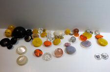 Vintage Glass button Lot Stunning looks colors shapes