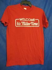 Vtg 80's Welcome To Miller Time High Life Beer Red Short Sleeve T-Shirt sz S/M