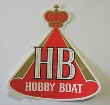 VECCHIO ADESIVO AUTO MOTO /Old Sticker HB INTERNATIONAL HOBBY BOAT (cm 11x12) c