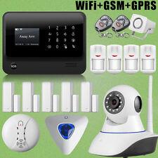 KIT Alarme Maison WIFI GSM Sirène Contrôle APP Android/iPhone Voix Française G90