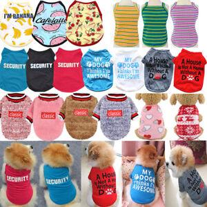 Pet Dog T-shirt Vest Puppy Winter Costume Sleeveless Hoodie Summer Top Tees Dog