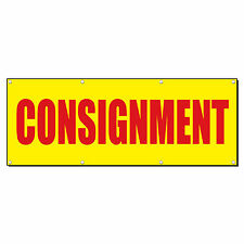 Consignment Promotion Business Sign Banner 4 X 2 With 4 Grommets